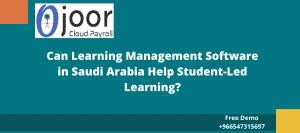 هل يمكن لبرامج إدارة التعلم في المملكة العربية السعودية أن تساعد في التعلم بقيادة الطلاب؟